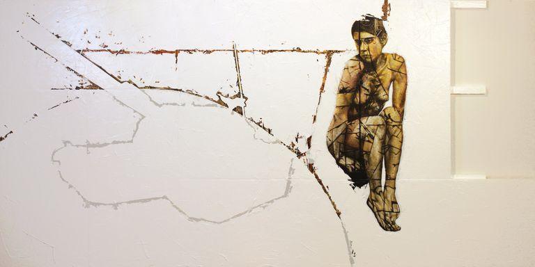 adrian leverkuhn, painting,  5, 38 (Tank-Shaped Hole)